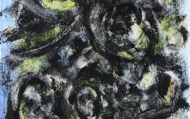 Theo Wolvecamp: Composition, 1987. Signed Wolvecamp; signed and dated on the reverse. Mixed media on paper. Sheet size 38×20 cm. Unframed.