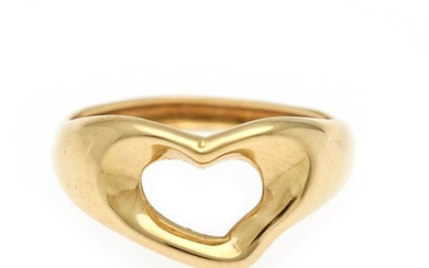 Tiffany & Co.: A heart ring of 18k gold. Size 52.