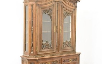 Two 19th century carved oak bodies from Liège...