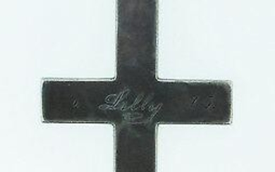 UNIQUE Silver Cross with Engraving Victorian!
