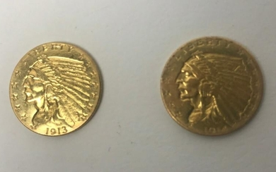 US Two and a Half Dollar Gold Coins