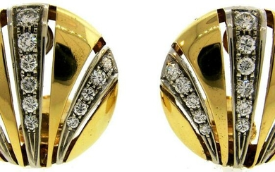 Van Cleef & Arpels Diamond Yellow Gold EARRINGS 1980s