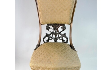 Victorian Upholstered Chair, Late 19th Century. Good conditi...