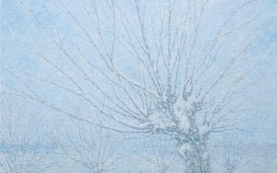 William Henry Singer (1868-1943), board, 48 x 38, 'The first snow',...