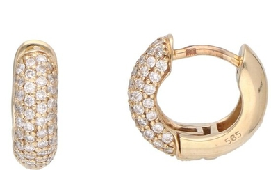 14 kt. Gold - Earrings - 0.38 ct Diamond