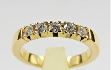 14 kt. Yellow gold - Ring - 0.40 ct Diamond