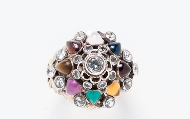 14kt Gold and Gemstone Ring