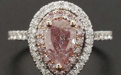 1.64ct Natural Fancy Brownish Pink, Diamonds - 14 kt. Pink gold, White gold - Ring - ***No Reserve Price***