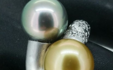 18 kt. White gold - Ring Pearl