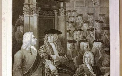 1803 Engraving of House of Commons Walpole