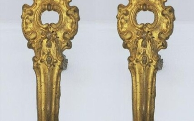 19thc French Large Gilt Curtain Hangars