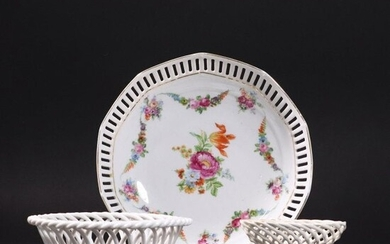 [3] Assorted German Porcelain Open Lace Reticulated