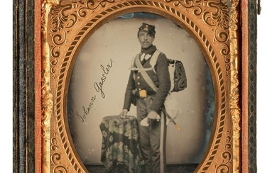 Civil War Sixth Plate Ambrotype of Private John