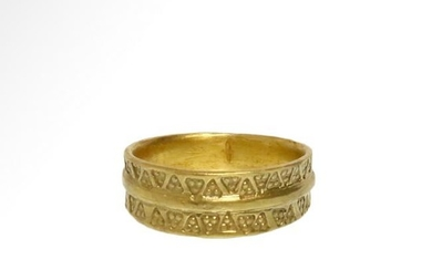Viking Gold Ring with Punched Decoration, c. 11th