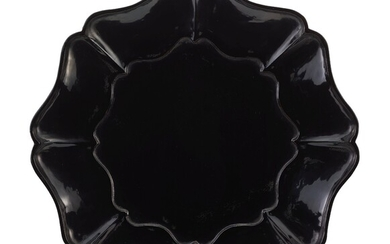 A BLACK LACQUER MALLOW-SHAPED DISH SONG – YUAN DYNASTY