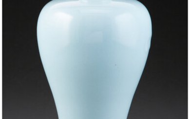 A Chinese Clair-de-Lune Meiping Vase (Qing Dynasty, 19th century)