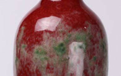 A Chinese Peach Blossom Glazed Vase