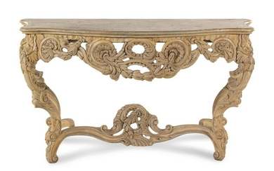 A Louis XV Style Painted Console Table