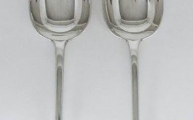 A Pair of Victorian Silver Old English Pattern Gravy...