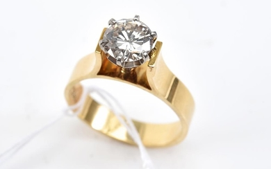 A SOLITAIRE DIAMOND RING (1.20CTS) IN 18CT GOLD, SIZE P-Q (PURCHASED IN VIENNA CIRCA 1970-80)