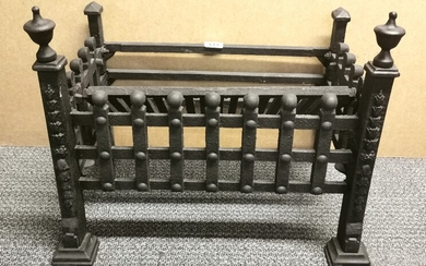 A cast iron fire grate, W. 54cm.