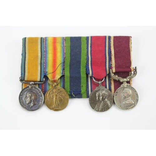 A collection of first world war Medals including the Coronat...