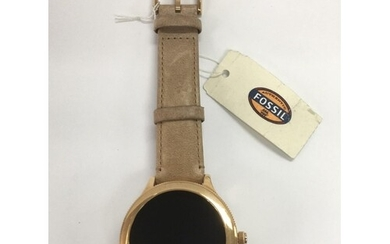 A ladies Fossil smart watch.