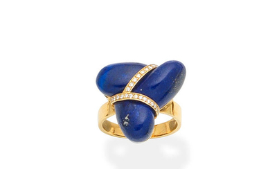 A lapis lazuli and diamond ring, by