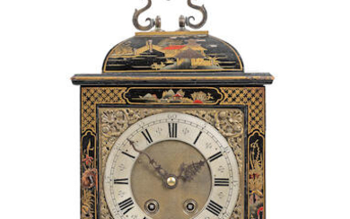 A late 19th/early 20th century Japanned bracket clock