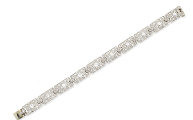 A mid-20th century diamond bracelet