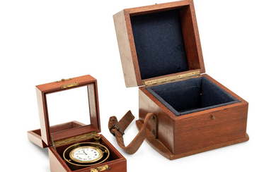 An American Mahogany Cased Two-Day Ship's Chronometer