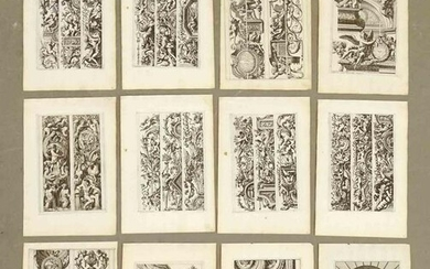 Antique French Architectural Print Set (12)