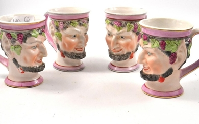 BACHUS ceramic cups (4), late 19th century