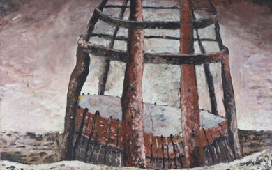 Bikett - 'The Golden Age', oil on canvas, signed, titled and dated 1986 verso, 203cm x 178