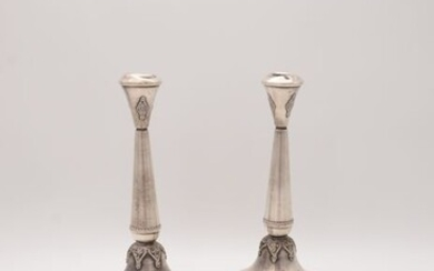 Candlestick - .925 silver - Israel - Mid 20th century