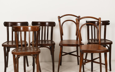 Chairs 6 mid-20th century France