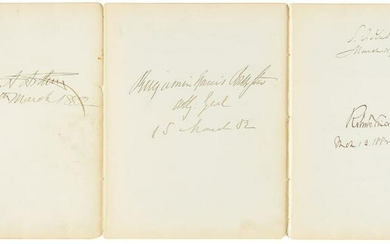 Chester A. Arthur and Cabinet Signatures