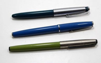 Collection of 3 Old Fountain Pens made by Platingum