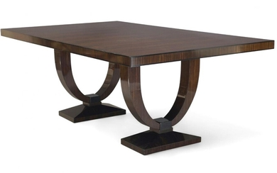 Davidson, London, a 'Grace' Macassar dining table together with six...