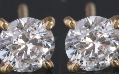 Earrings with brilliant cut diamonds 0.94ct