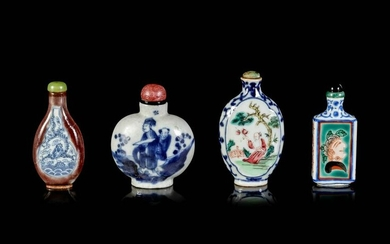 Four Chinese Porcelain Bottles