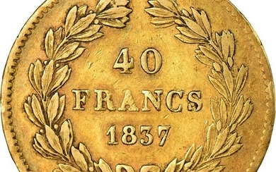 France - 40Francs 1837-A Louis Philippe I - Gold
