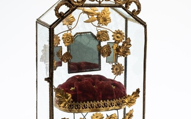 French Gilt-Metal and Glass Bride's Case, 19th Century EV2DJ