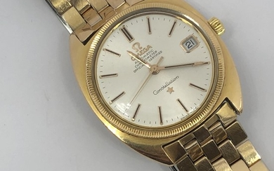 Gentlemans gold plated automatic date wristwatch, signed, Om...