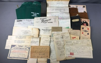 Group of Antique Downers Grove Store Reciepts and more