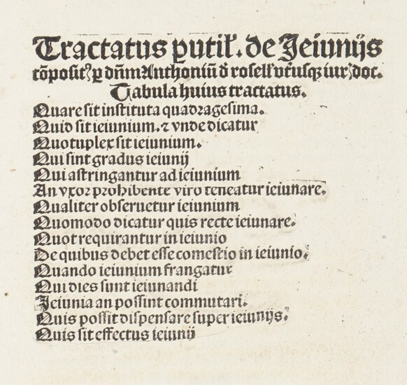 [Incunabula and early 16th cent. books]. Rosellis, A....