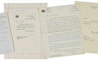 India. 12 autograph or typed letters signed from various governors-general of India, 20th century