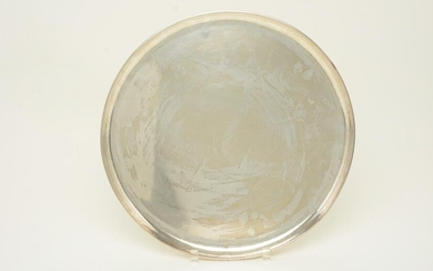 Kalo large sterling silver round tray. Marked