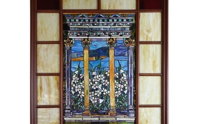Large 20th C. Stained Glass Window