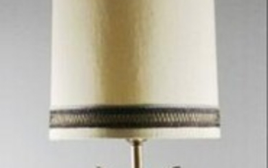Large Bronze And Jewelled Lamp